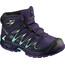 Salomon Junior Xa Pro 3D Mid CSWP Shoes Acai/Evening Blue/Biscay Green